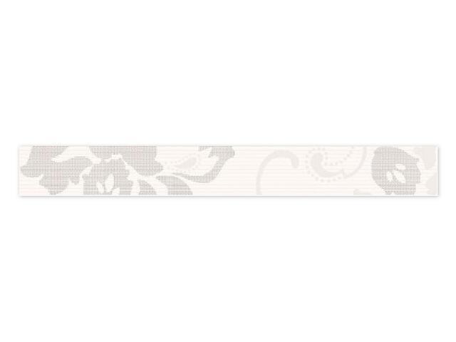 Płytka ścienna Secret Bianco listwa drukowana 7x59,5 Paradyż