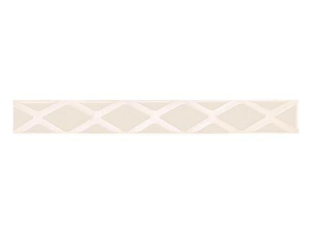 Płytka ścienna Secret Bianco listwa drukowana poduszki 7x59,5 Paradyż