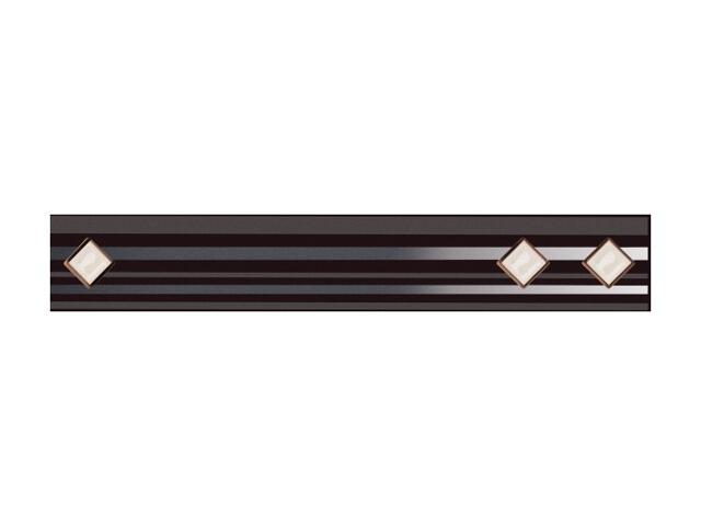 Płytka ścienna Secret Nero listwa kostki Murano 4,8x29,5 Paradyż
