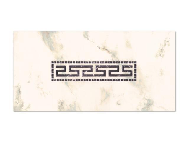 Płytka ścienna Genezo Bianco matowe inserto Meander 29,5x59,5 Paradyż