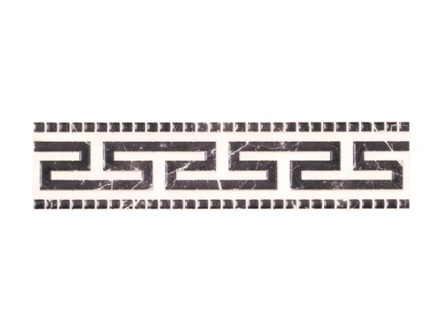 Płytka ścienna Genezo Bianco listwa Meander 7x29,5 Paradyż