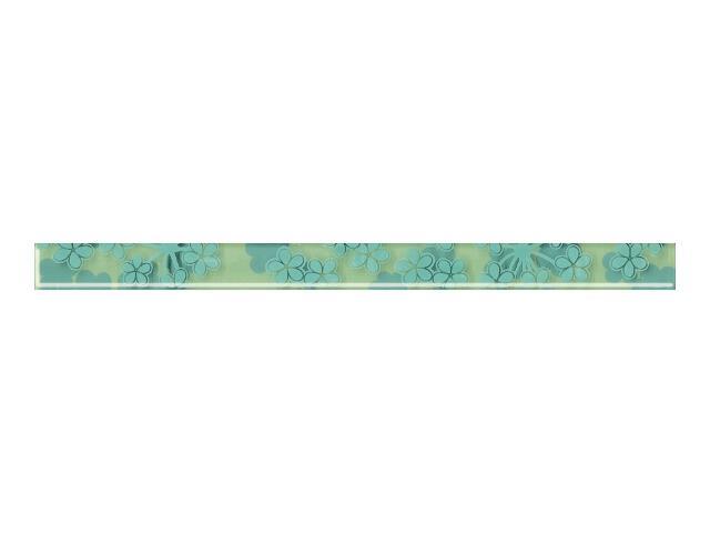 Płytka ścienna Melua Verde listwa szklana 3x40 Paradyż