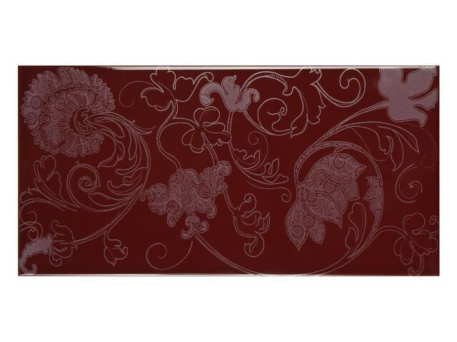 Płytka ścienna Charme Bordo dekor 25x50 Polcolorit