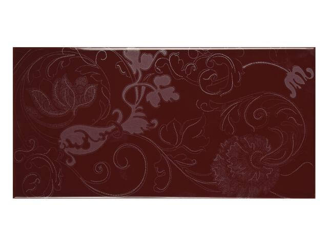 Płytka ścienna Charme Bordo B dekor 25x50 Polcolorit