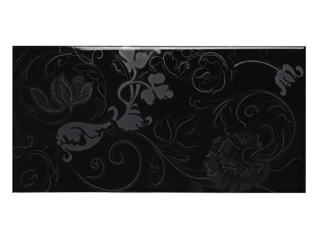 Płytka ścienna Charme Nero B dekor 25x50 Polcolorit