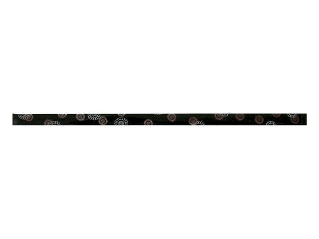 Płytka ścienna Charme Nero Kwiat listwa szklana 2,2x50 Polcolorit
