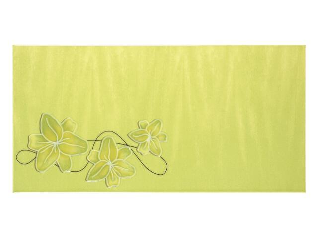 Płytka ścienna Ecco Verde Kwiat dekor 25x50 Polcolorit