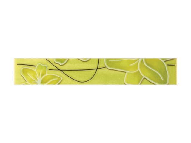 Płytka ścienna Ecco Verde Kwiat listwa 4x25 Polcolorit