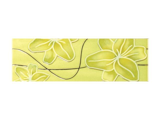 Płytka ścienna Ecco Verde Kwiat listwa 8x25 Polcolorit