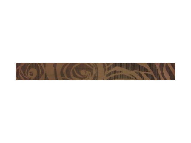 Płytka ścienna Elegante Marrone Róże listwa 6,5x60 Polcolorit