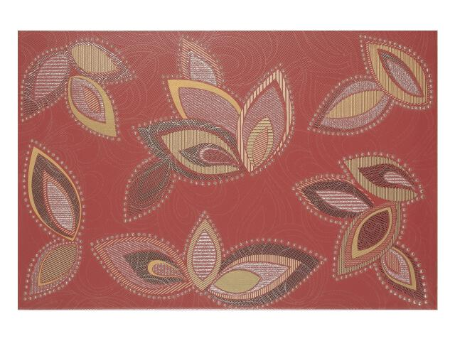 Płytka ścienna Flowers Bordo dekor 33,3x50 Polcolorit