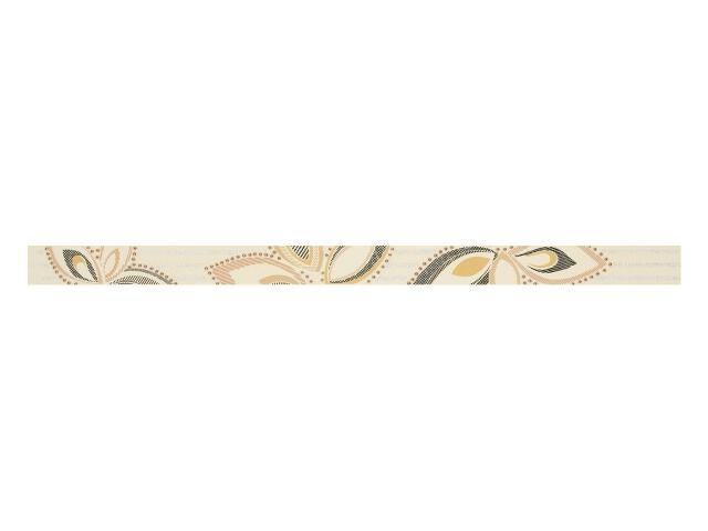 Płytka ścienna Flowers Beige listwa 3x50 Polcolorit