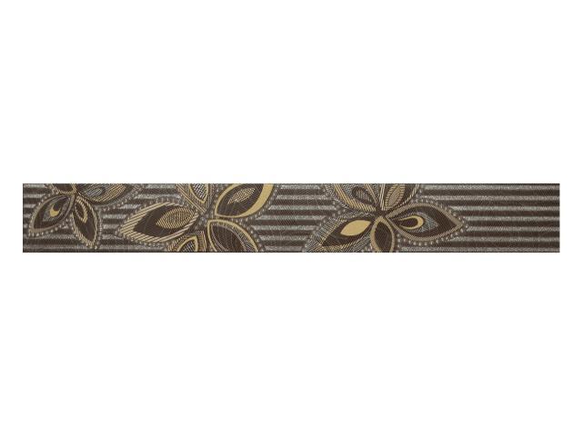 Płytka ścienna Flowers Marron listwa 6,5x50 Polcolorit