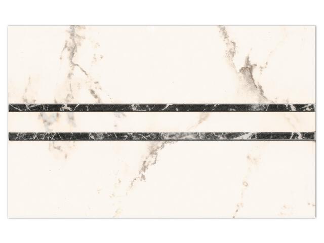 Płytka ścienna Gentile Bianco inserto drukowane Geometryk B 25x40 Paradyż
