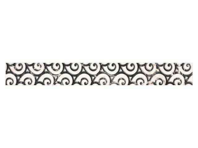 Płytka ścienna Gentile Bianco listwa drukowana 4,8x40 Paradyż