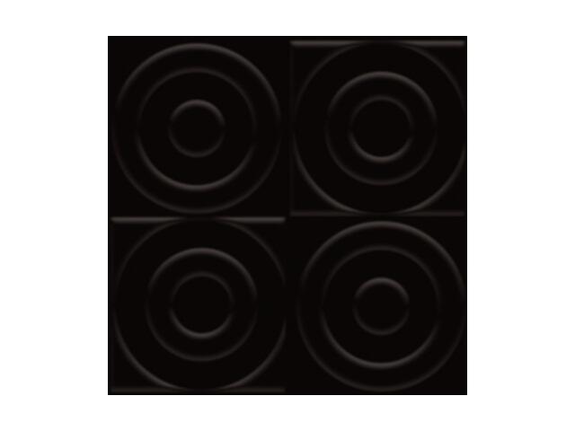 Płytka ścienna Ton Nero struktura C 9,8x9,8 Paradyż