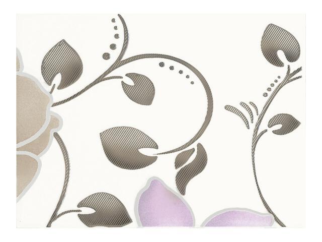 Płytka ścienna Tirani Viola inserto A 25x33,3 Kwadro
