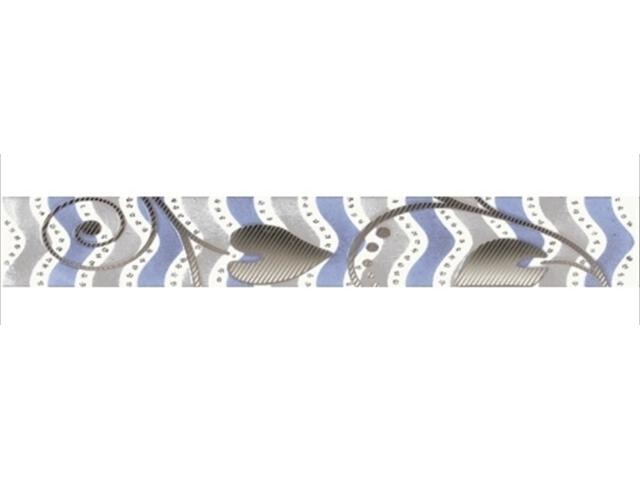 Płytka ścienna Tirani Blue listwa 4,8x33,3 Kwadro