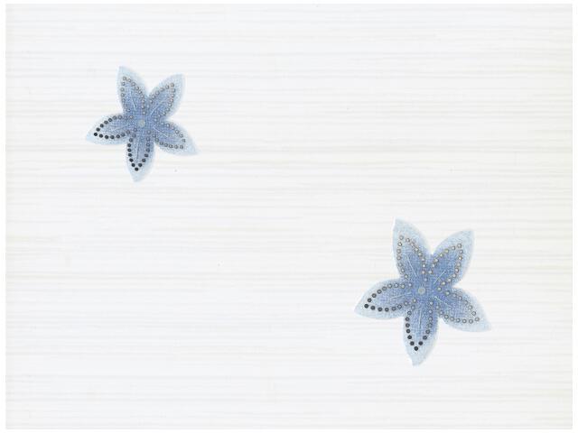 Płytka ścienna Stokrotka Blue inserto drukowane 25x33,3 Kwadro