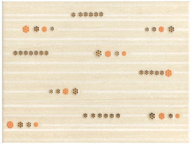 Płytka ścienna Begonia Beige inserto C 25x33,3 Kwadro