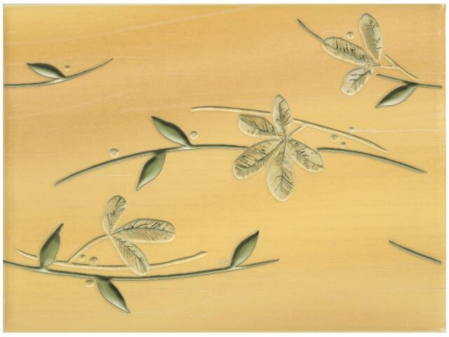 Płytka ścienna Magnolia Ochra inserto 25x33,3 Kwadro