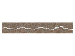 Płytka ścienna Polinesia szara modern 45x7 Opoczno