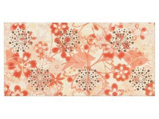 Płytka ścienna centro Linero orange flower 29x59,3 Opoczno