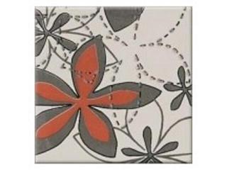 Płytka ścienna centro Aplauz flower szary 2 10x10 Opoczno