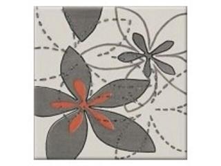 Płytka ścienna centro Aplauz flower szary 1 10x10 Opoczno