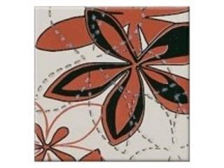 Płytka ścienna centro Aplauz flower czerwony 2 10x10 Opoczno