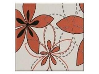 Płytka ścienna centro Aplauz flower czerwony 1 10x10 Opoczno