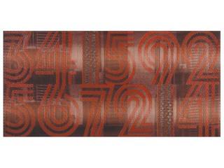 Płytka ścienna centro Jazz czerwień cyfry 29x59,3 Opoczno