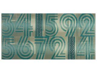 Płytka ścienna centro Jazz turkus cyfry 29x59,3