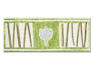 Płytka ścienna tulipan zielony 25x10 Aspazja Cersanit