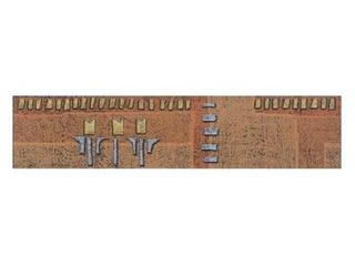 Płytka ścienna Diuna orange geo 22,5x5