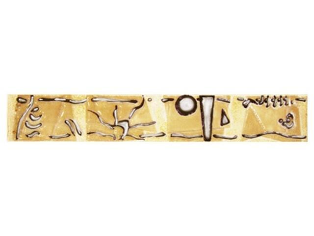 Płytka ścienna Rexona giallo listwa modern 25x4