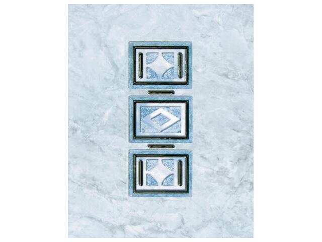 Płytka ścienna Pallada azul inserto 25x35