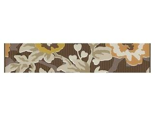 Płytka ścienna Frida brown listwa kwiatek 25x5