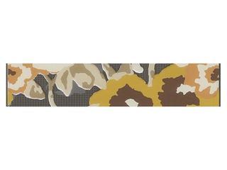 Płytka ścienna Frida grafit listwa kwiatek 25x5 Cersanit