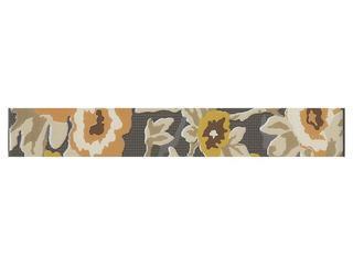Płytka ścienna Frida grafit listwa kwiatek 35x5 Cersanit