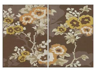 Płytka ścienna Frida brown inserto kwiatek 50x35 Cersanit