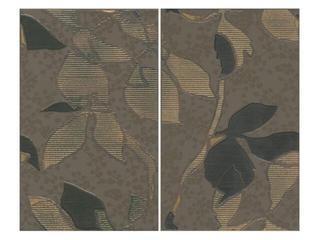Płytka ścienna Liryka brown inserto liście 40x50 Cersanit