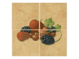 Płytka ścienna Cucina ochra kompozycja fragola owoce 1 20x20 Cersanit