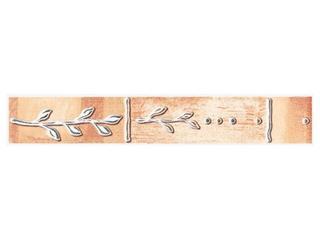 Płytka ścienna Cyrkona ochra listwa gałązka 25x4,2 Cersanit