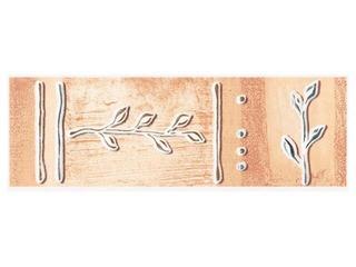 Płytka ścienna Cyrkona ochra listwa gałązka 25x8,6 Cersanit