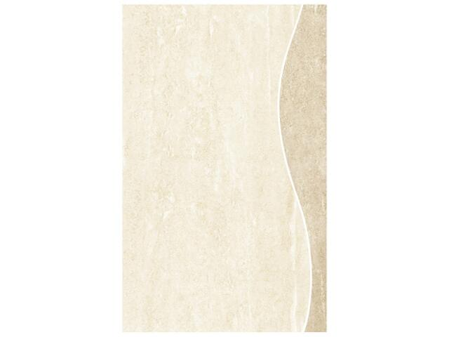 Płytka ścienna Libra beige fala vertical alfa 25x40