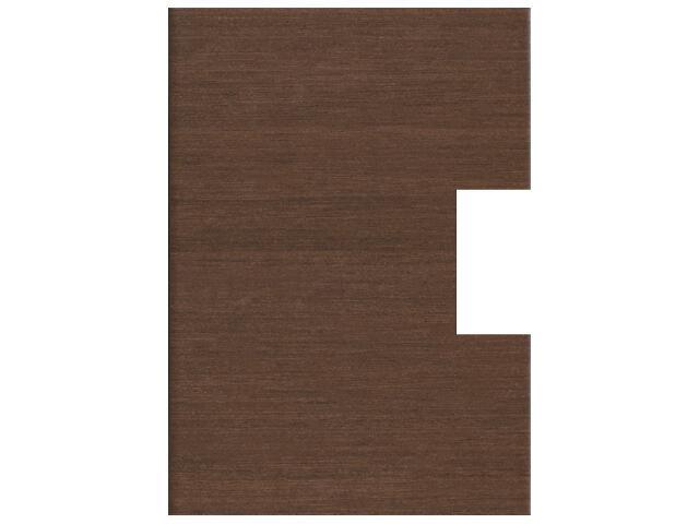 Płytka ścienna Tenera brown pod inserto otwór kwadrat 25x35