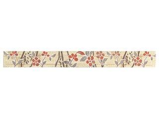 Płytka ścienna Symfonia beige listwa kwiatek 50x5,3 Cersanit