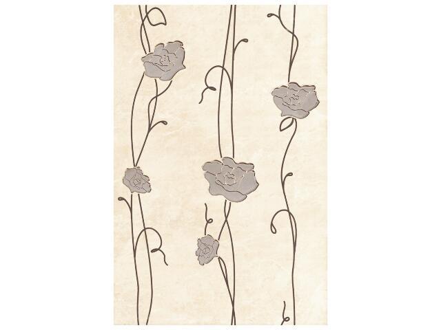 Płytka ścienna Tesalia beige inserto kwiatek 33,3x50