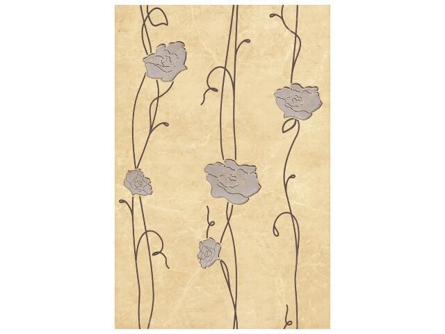 Płytka ścienna Tesalia giallo inserto kwiatek 33,3x50